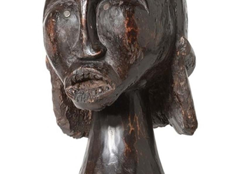 19th Century Ethnographica heads for auction