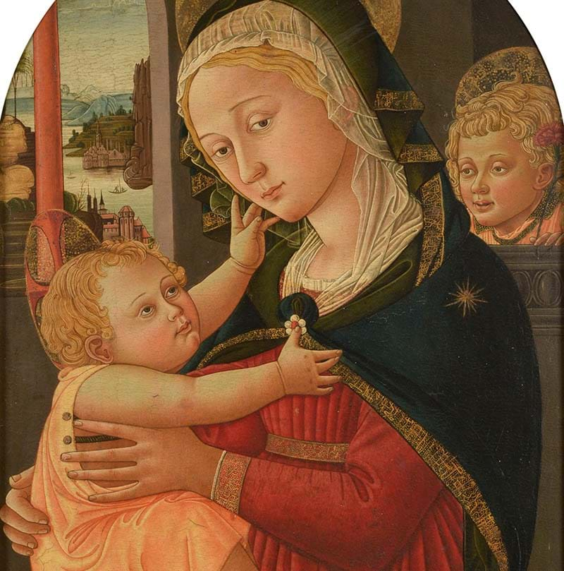 "Manner of Filippo (Filippino) Lippi (c.1406-1469) ""The Madonna and Child"""