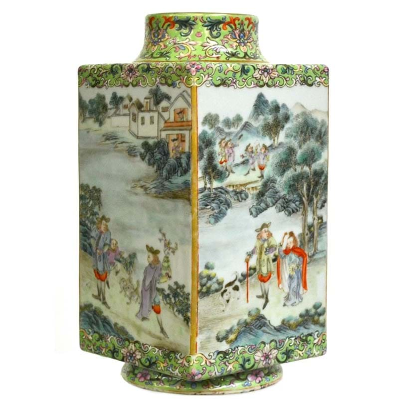 A Chinese Porcelain European Subject Vase, late 18th/early 19th century