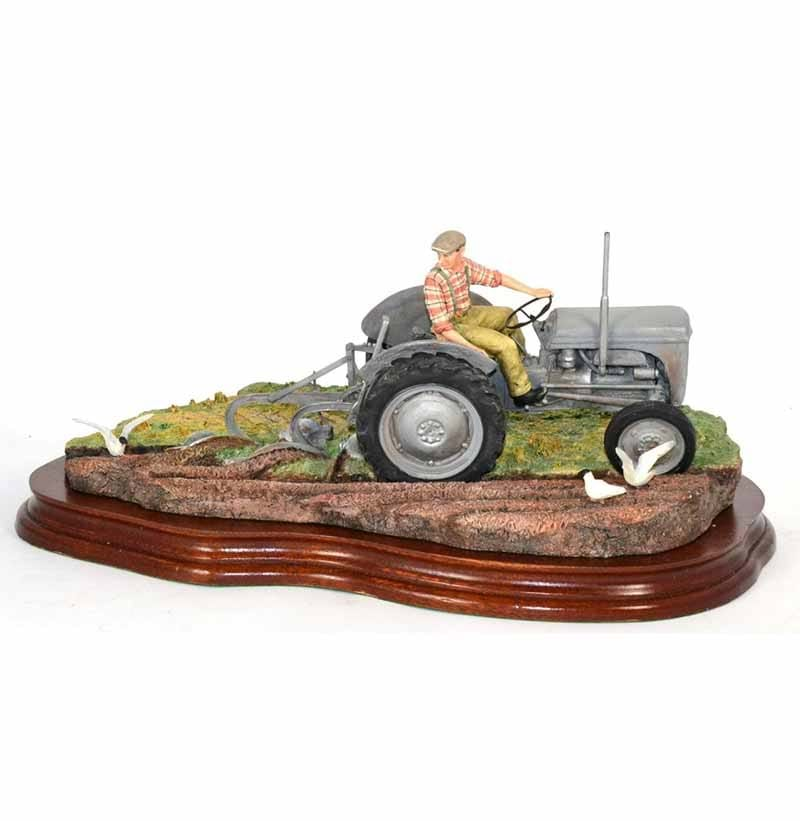 Border Fine Arts 'The Fergie' (Tractor Ploughing), model No. JH64 by Ray Ayres, limited edition 1081/1250