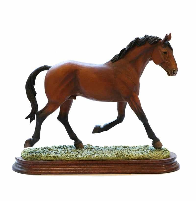 "Border Fine Arts 'Cleveland Bay Stallion' – ""Forest Foreman"", model No. L63 by Judy Boyt, limited edition 199/200"