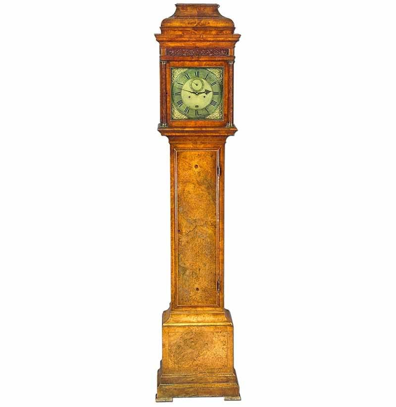 A Burr Walnut Longcase Clock, Signed George Graham, London 1740