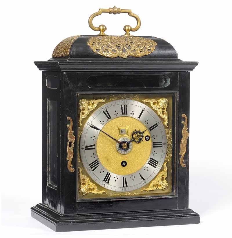 A James II Ebony Veneered Table Timepiece, Signed Johannes Knibb, Oxon, c1685