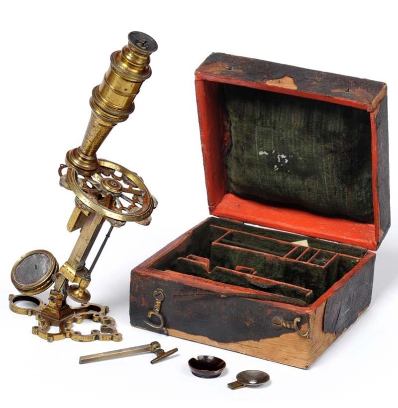 "A rare example of a George Adams ""New Universal"" microscope"