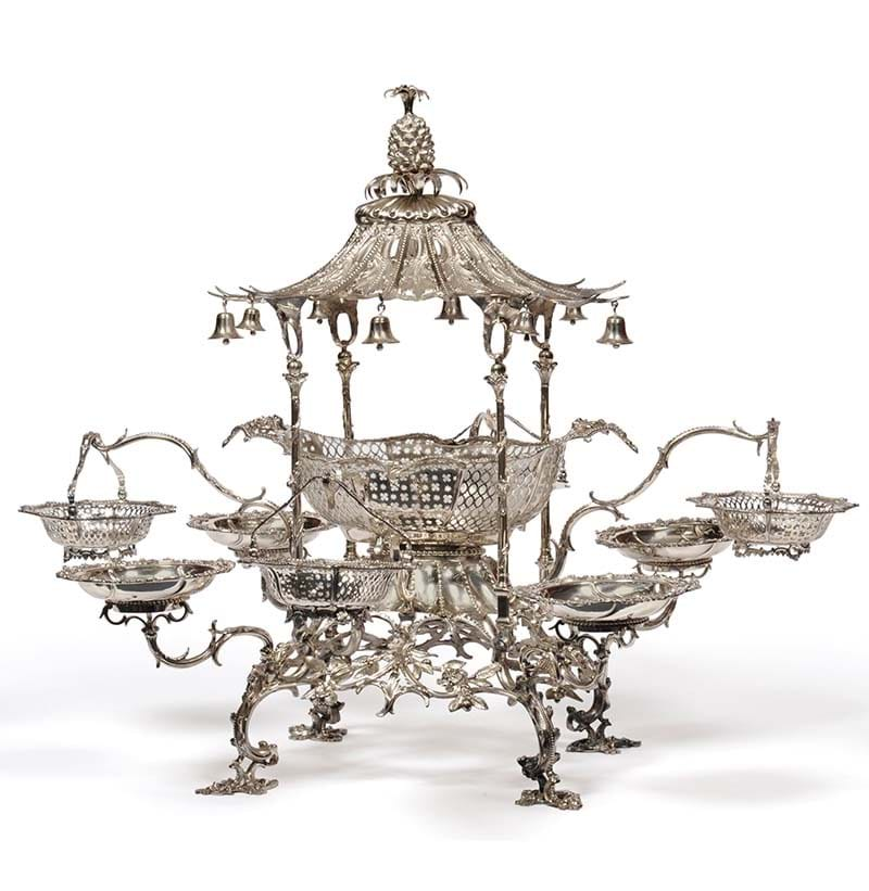 A George III Silver Pagoda Epergne, Thomas Pitts, London 1762