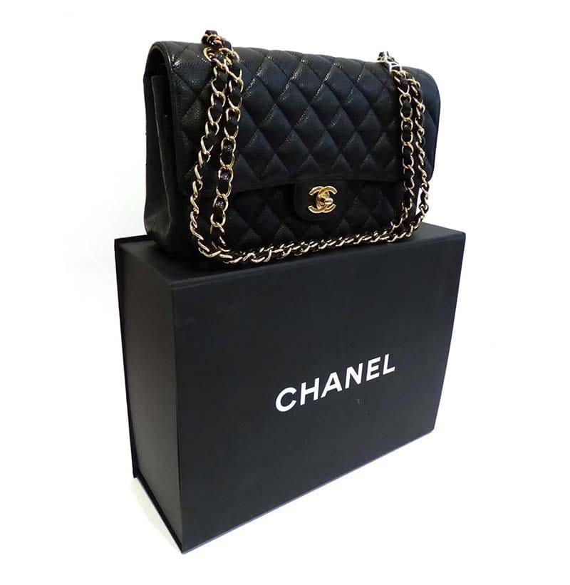 A Chanel Black Quilted Leather Classic Flap Bag