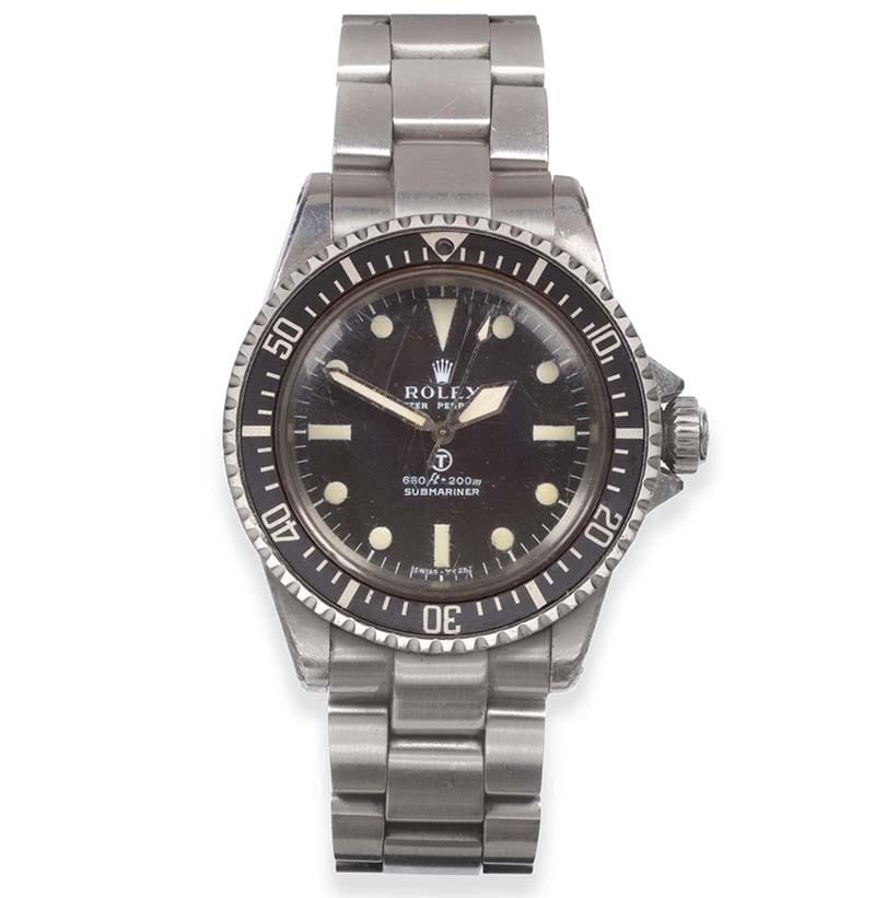 An Automatic Centre Seconds Royal Navy Military Issue Diver's Watch, Signed Rolex, Oyster Perpetual, Submariner, 1975