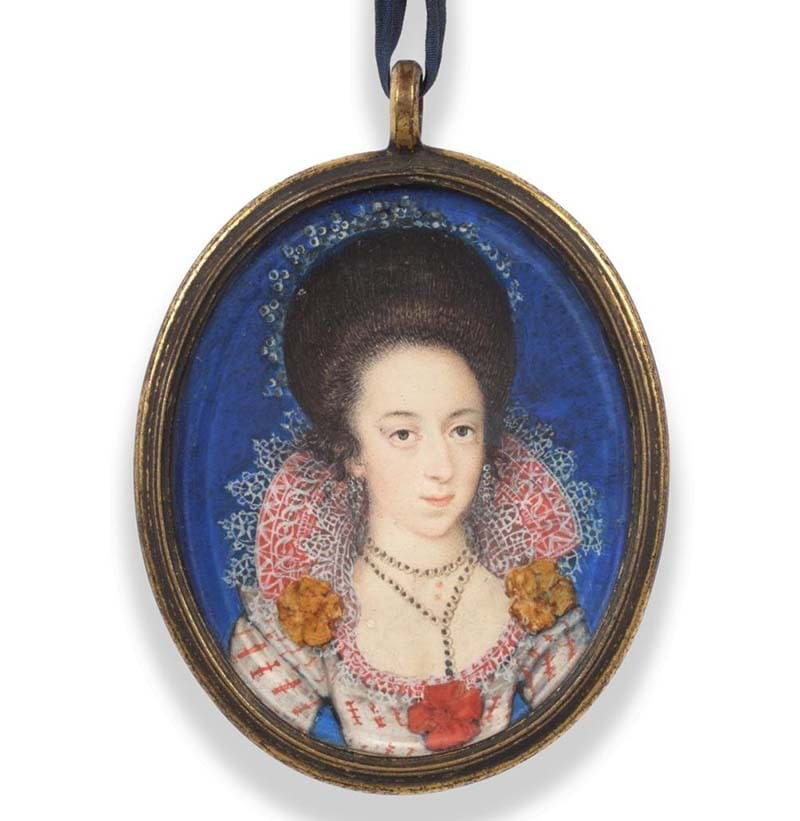 Property of a Lady English School (circa 1610): Miniature Portrait of a Lady