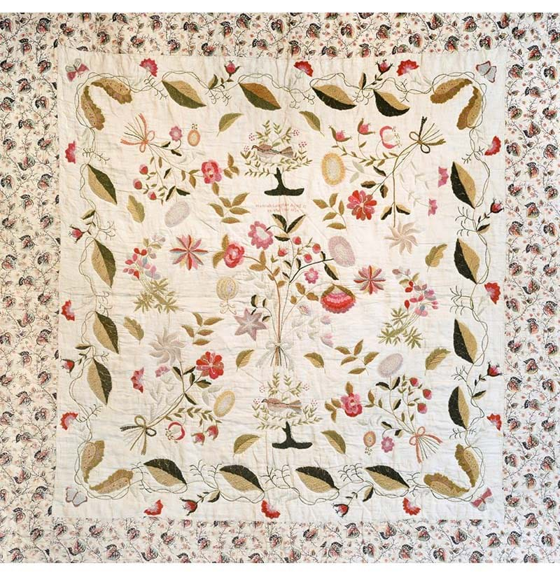 An Early 19th Century Quilt, Worked by Hannah Langdale, Aged 13, Dated 1834