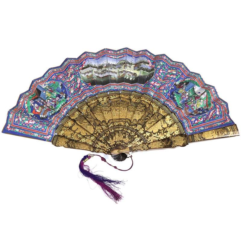 Harbour Scene: A Circa 1840-1860 Chinese Fan, Qing Dynasty