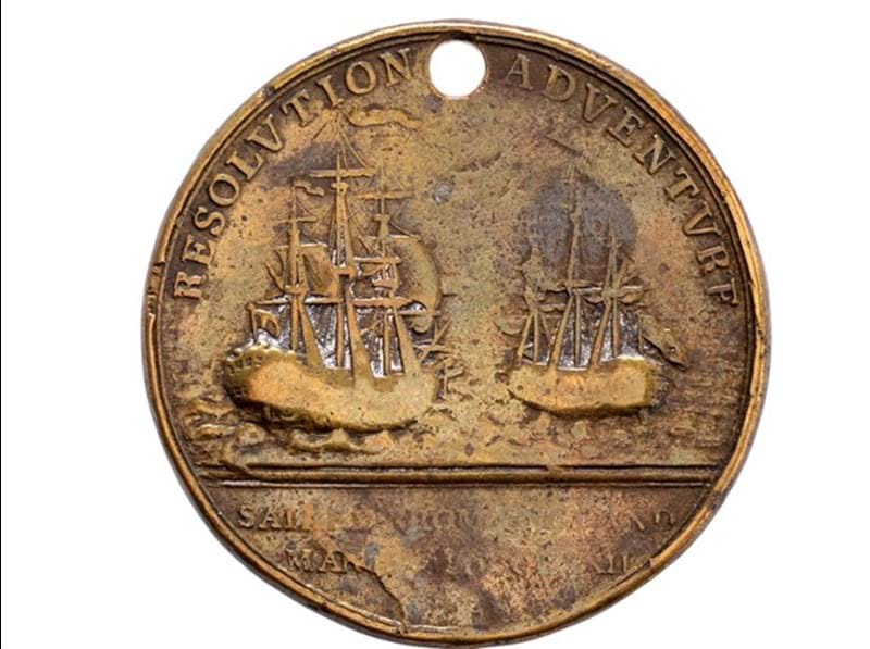 Rare Medal from Cook's Second Voyage for Sale