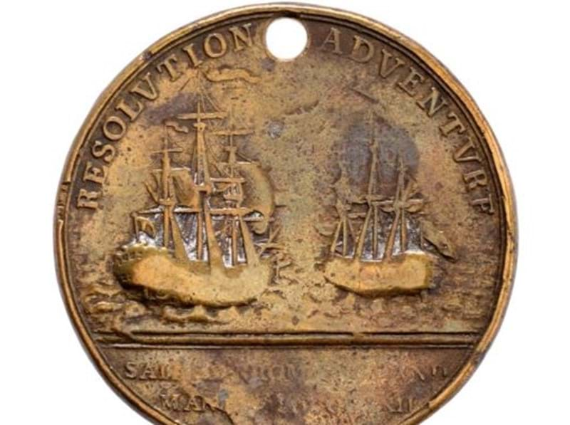 Rare James Cook Medal Sells for £3,200