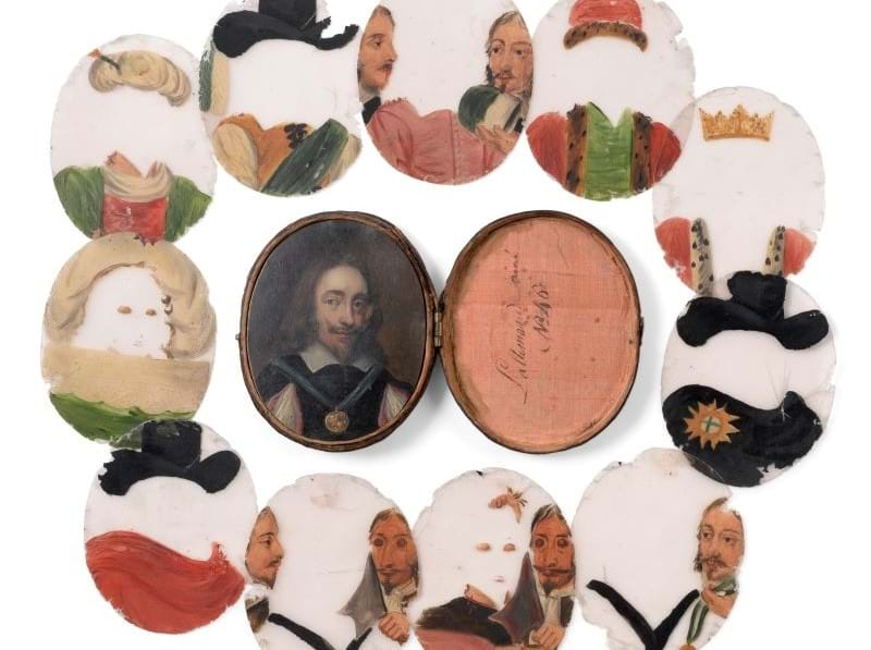 A Rare Portrait Miniature of Charles I