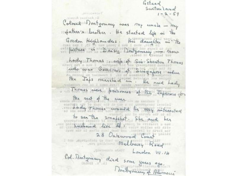Letter Signed by Field Marshal Montgomery Comes to Auction