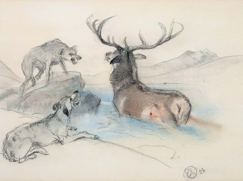 Sir Edwin Landseer's 'A Stag at Bay'