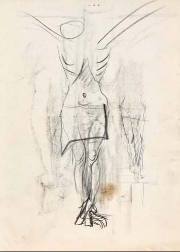 Graham Sutherland (1903-1990) Crucifixion Mixed media, 28cm by 20cm