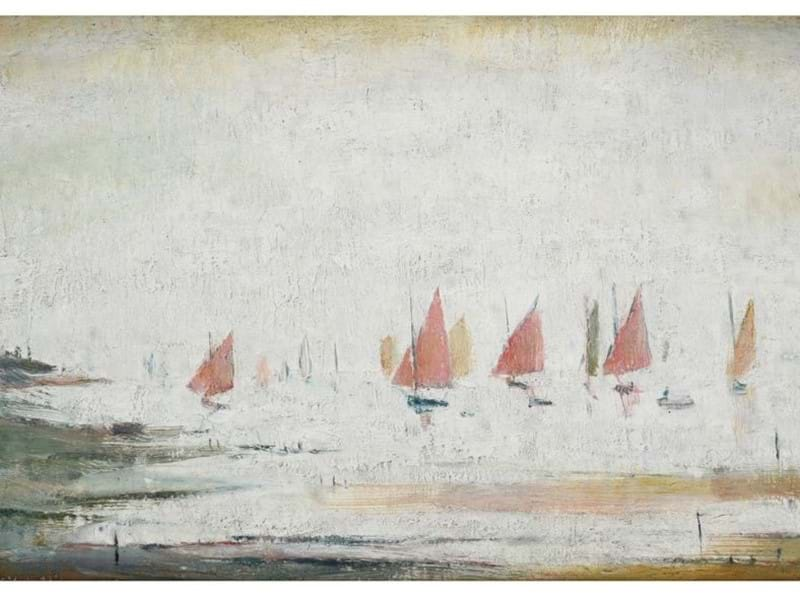 Lowry's 'Yachts at Lytham St Annes'